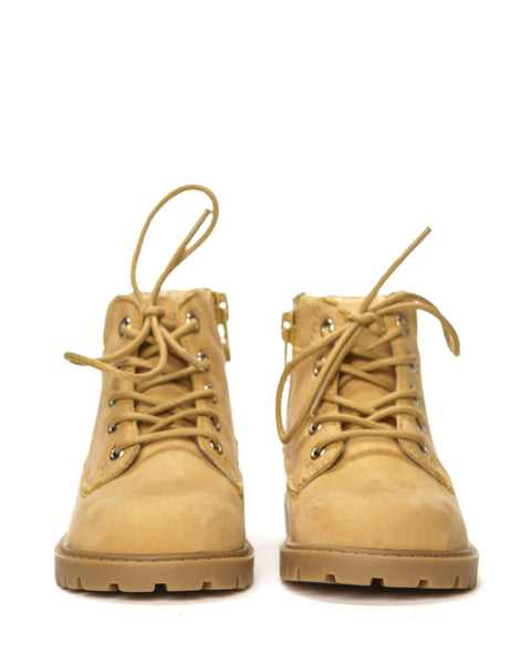 AKID Tan Atticus Boots, front view | POCO KIDS