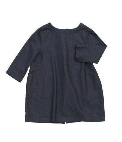 Tinycottons Blue Denim Dress with Pockets | POCO KIDS