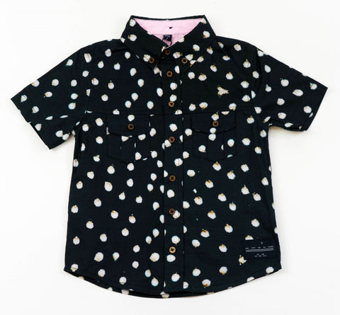 Bunny Black Button Down Shirt