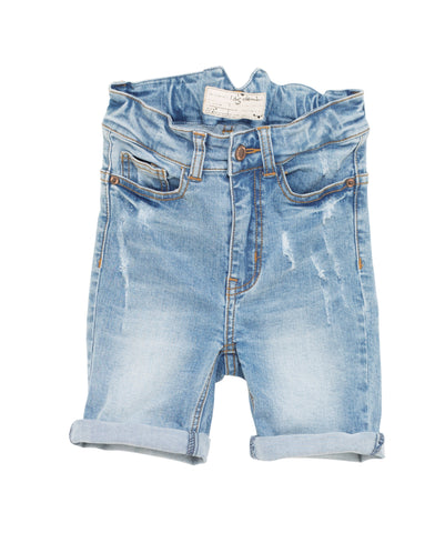 I Dig Denim Light Blue Arizona Denim knee length Shorts | POCO KIDS