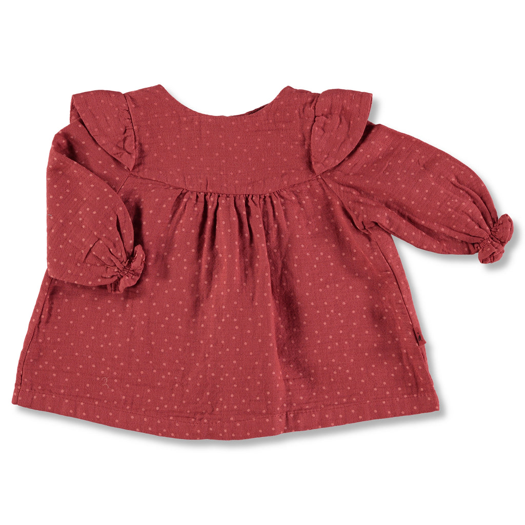 My Little Cozmo Garnet Red Topitos Dress | POCO KIDS