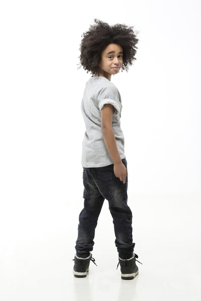 I Dig Denim Black Ben Jeans Joggers- full outfit back | POCO KIDS