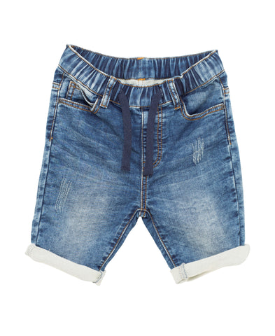 I Dig Denim Blue Ben Denim knee length Shorts | POCO KIDS
