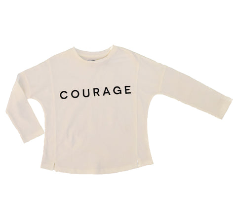 Jax & Hedley White Courage Long Sleeved T-Shirt | POCO KIDS
