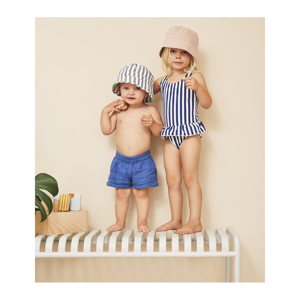 Liewood Navy Stripe Amara Swimsuit | POCO KIDS