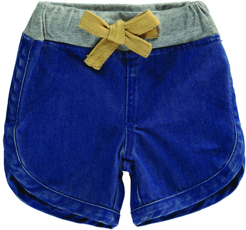 Tootsa MacGinty French Blue Crepe Suzette Denim Shorts | POCO KIDS
