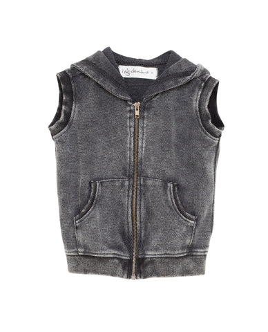I Dig Denim Dark Grey Egon Sleeveless Jacket | POCO KIDS