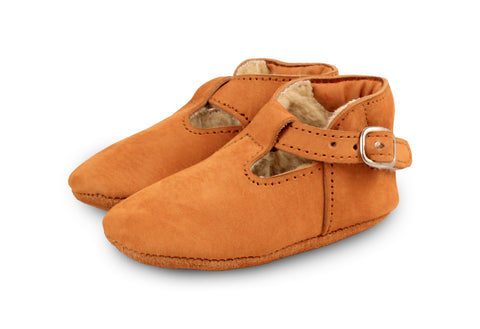 Donsje Caramel Elia shoes with faux-shearling lining | POCO KIDS