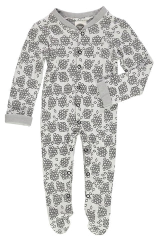 The Bright Company Grey Snoflinga Christmas Money Sleepsuit