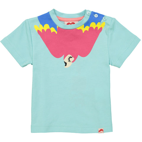 Tootsa MacGinty Light Blue Felipe Aruba Macaw placement t-shirt | POCO KIDS