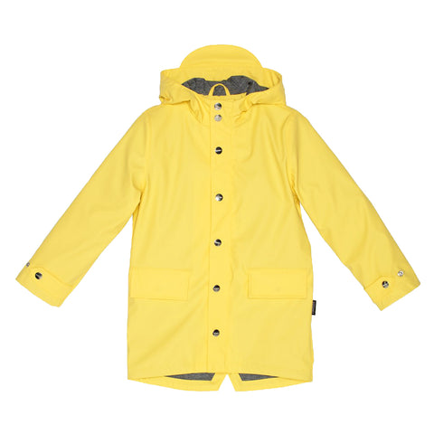 Go Soaky Sherbet Lemon Yellow Lazy Geese Rain Jacket | POCO KIDS