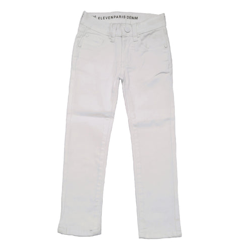 Eleven Paris White Cleo Denim Jeans | POCO KIDS