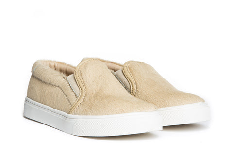 AKID Tan Liv Pony Shoes | POCO KIDS