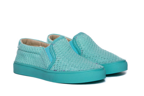 AKID Teal Liv Mesh Slip On shoes | POCO KIDS