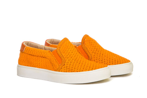 AKID Orange Liv Mesh Slip On shoes | POCO KIDS