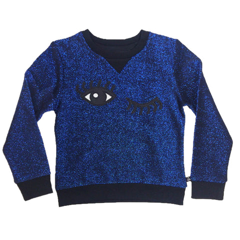 Little Eleven Blue Metallic Rism Jumper | POCO KIDS