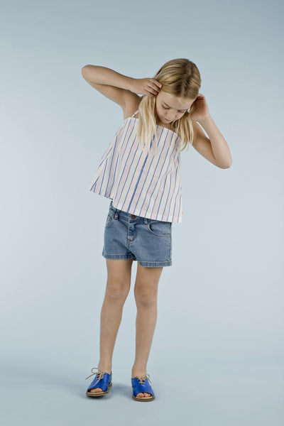 Tinycottons Stripes Relaxed Top, look book image | POCO KIDS