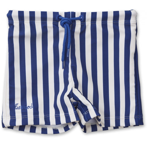 Liewood Navy Stripe Otto Swim Shorts | POCO KIDS