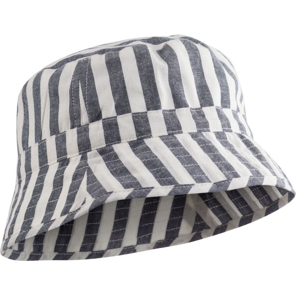Liewood Navy Stripe Jack Bucket Baby Hat | POCO KIDS