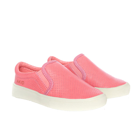AKID LIV Pink Perforated Shoes | POCO KIDS