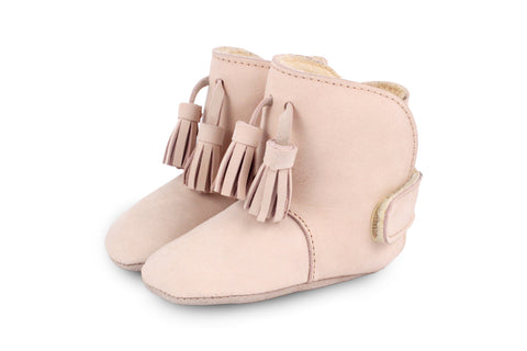 Donsje Powder Pink Lolo Boots with faux shearling lining | POCO KIDS
