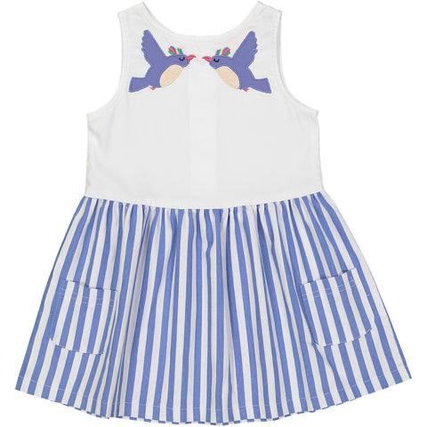 Tootsa MacGinty White & Blue Luna Dress | POCO KIDS