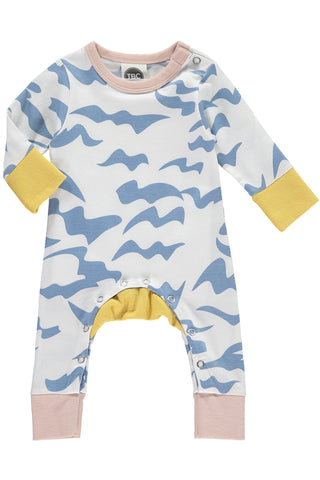 The Bright Company Blue Waves Allure Monty Sleepsuit | POCO KIDS