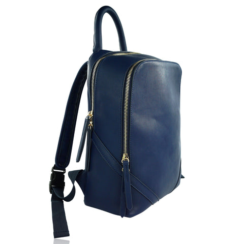 Milk & Soda Blue Zayn Backpack, side view | POCO KIDS