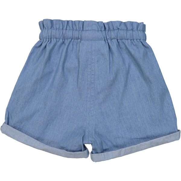 Tootsa MacGinty Light Blue Denim Manatee Comfy Shorts, back | POCO KIDS