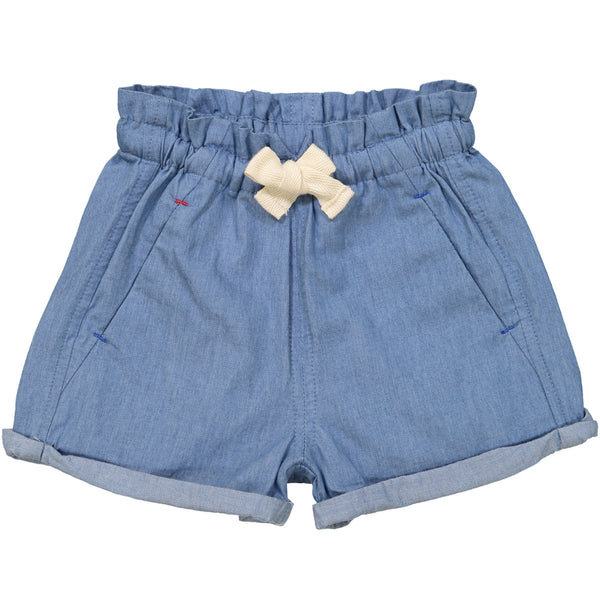 Tootsa MacGinty Light Blue Denim Manatee Comfy Shorts | POCO KIDS