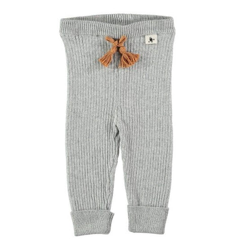 My Little Cozmo Soft Grey Ribbed Leggings | POCO KIDS