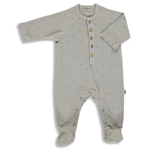 My Little Cozmo Light Grey Organic Romper | POCO KIDS