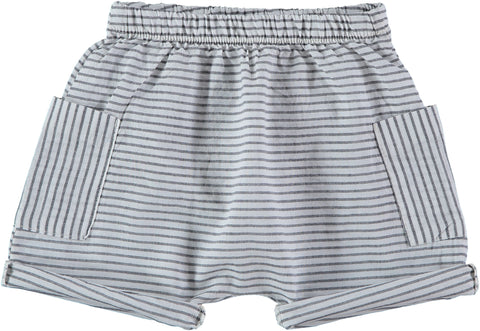 My Little Cozmo Striped Bermuda Nassau Shorts | POCO KIDS
