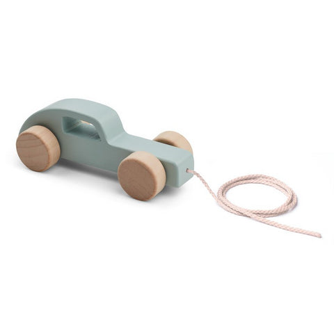 Liewood Dusty Mint Car Abby Pull Along Toy | POCO KIDS