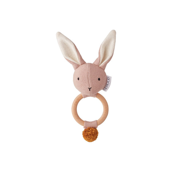 Liewood Rose Pink Rabbit Aria Rattle | POCO KIDS