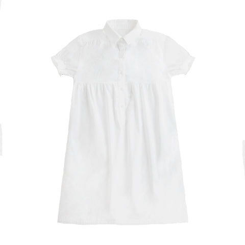 Repose AMS Crisp White Shirt Dress | POCO KIDS