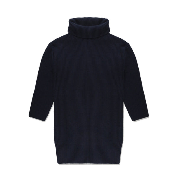 Repose Ams Classic Blue Cowl Neck Knitted Sweater | POCO KIDS