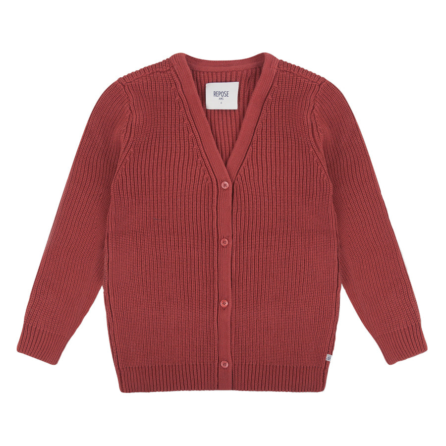 Repose AMS Warm Red Birch Cardigan | POCO KIDS