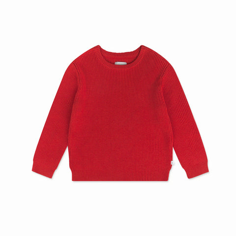 Repose AMS Red Clay Knitted Sweater | POCO KIDS