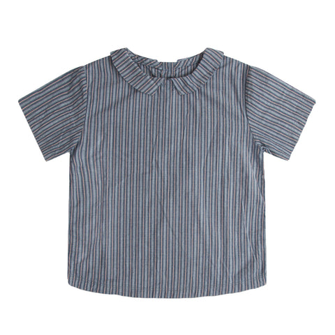 Repose AMS Blue Road Striped Shirt with collar | POCO KIDS