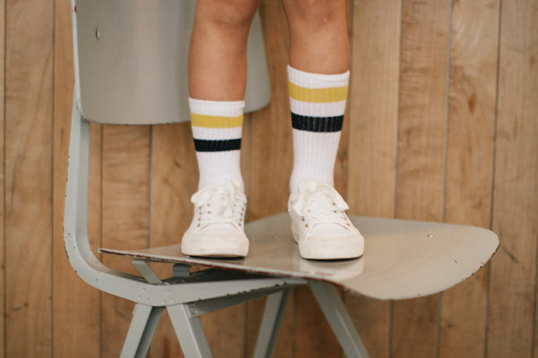 Repose AMS Mid-length Striped Socks, look book image | POCO KIDS
