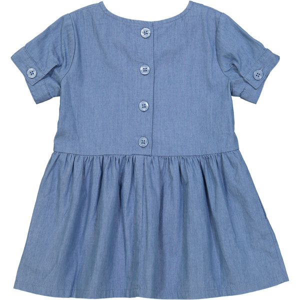 Tootsa MacGinty Light Blue Denim Rio Negra Smock Dress, back | POCO KIDS