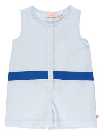 Tinycottons Pale Blue Line Shorts Onepiece | POCO KIDS