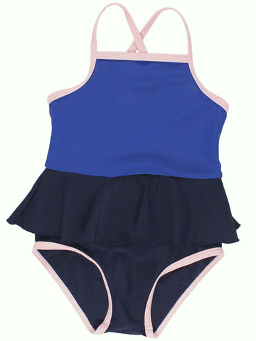 Tinycottons Blue Frill Swimsuit | POCO KIDS