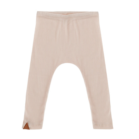 Frnky's Cream Pink Leggings, with Dusky Pink leatherette trianagle at the ankle | POCO KIDS
