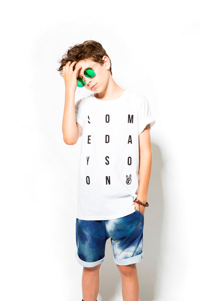 Someday Soon White Hope T-Shirt, look book image | POCO KIDS