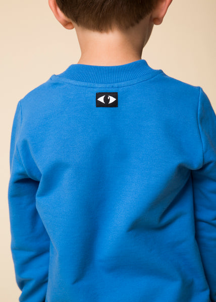 WAWA Sky Blue Sweatshirt, back with logo | POCO KIDS
