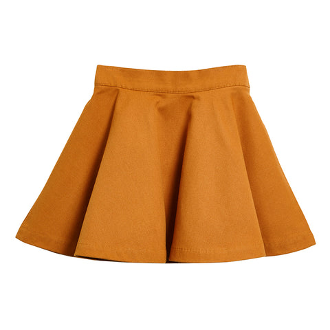 WAWA Tan Brown Circle Skirt | POCO KIDS