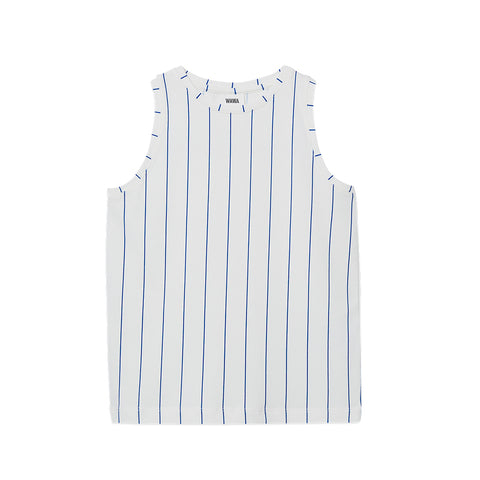 WAWA White and Blue Arline Tank Top | POCO KIDS