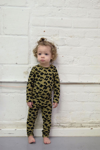 Jax & Hedley Khaki ZZZ leggings, look book image | POCO KIDS